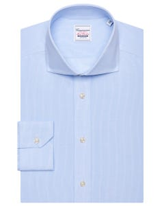BARCELONA, NON IRON WITH CHEQUERED BLUE SHIRT, NEW FRENCH COLLAR, EXTRA SLIM FIT, IN POPLIN BARCELONA 147M - FRENCH_0