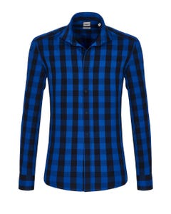 LONG-SLEEVED SHIRT IN FLANNEL TWILL BUTTON DOWN_0