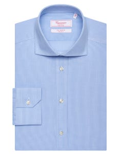 LONG-SLEEVED SHIRT IN COTTON POPLIN 147M - FRENCH_0