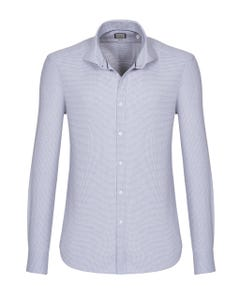 LONG-SLEEVED COTTON DOBBY SHIRT 147M - FRENCH_0