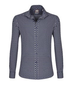 LONG-SLEEVED PRINTED COTTON SHIRT 147M - FRENCH_0