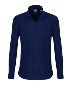 LONG-SLEEVED COTTON TWILL SHIRT BUTTON DOWN_0