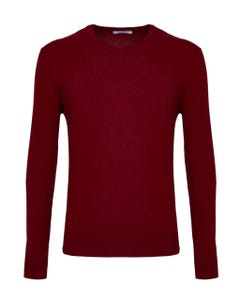 RED CASHMERE BLEND CREW NECK SWEATER_0