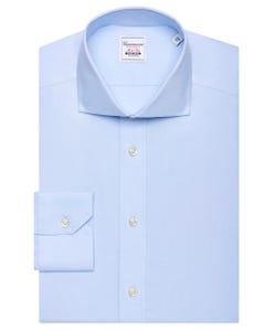 KIEV, NON IRON BLUE SHIRT, NEW FRENCH COLLAR, EXTRA SLIM FIT, IN PIN POINT KIEV 147M - FRENCH_0
